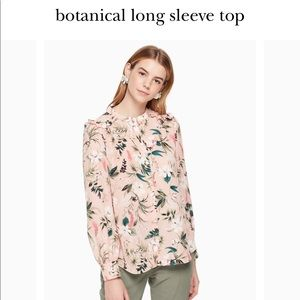 Kate spade botanical long sleeve blouse small